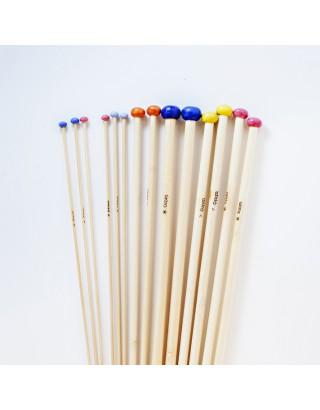 Agujas rectas de bambú