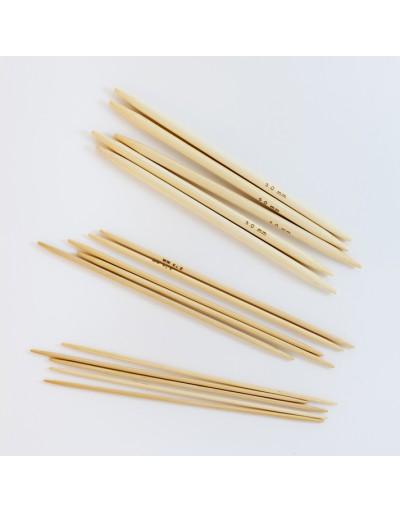 Agujas de doble punta de bambú
